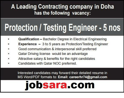 A Leading Contracting Company in Doha Has the Following