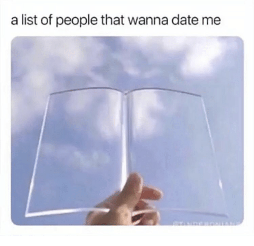 Date, List, and List Of: a list of people that wanna date me