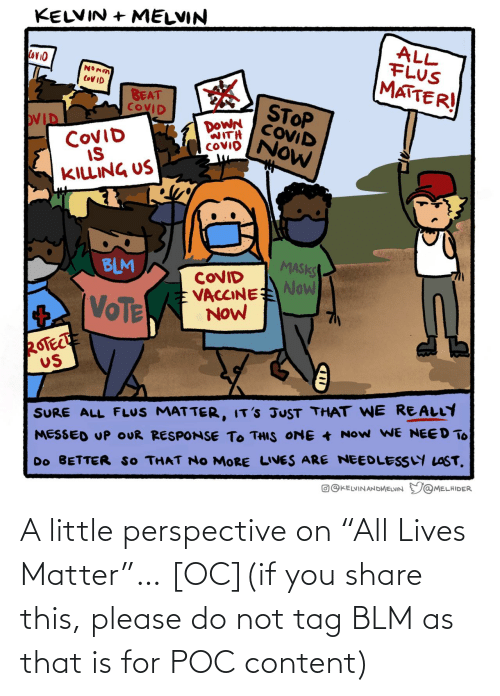 "Please Do: A little perspective on ""All Lives Matter""… [OC](if you share this, please do not tag BLM as that is for POC content)"