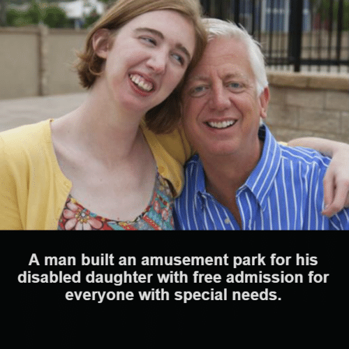 Memes, Free, and 🤖: A man built an amusement park for his  disabled daughter with free admission for  everyone with special needs.