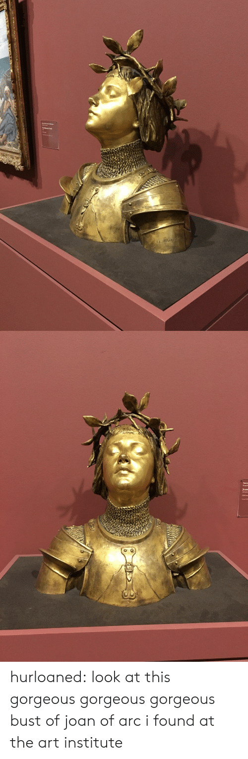 arc: a.mena   Jeans hurloaned: look at this gorgeous gorgeous gorgeous bust of joan of arc i found at the art institute