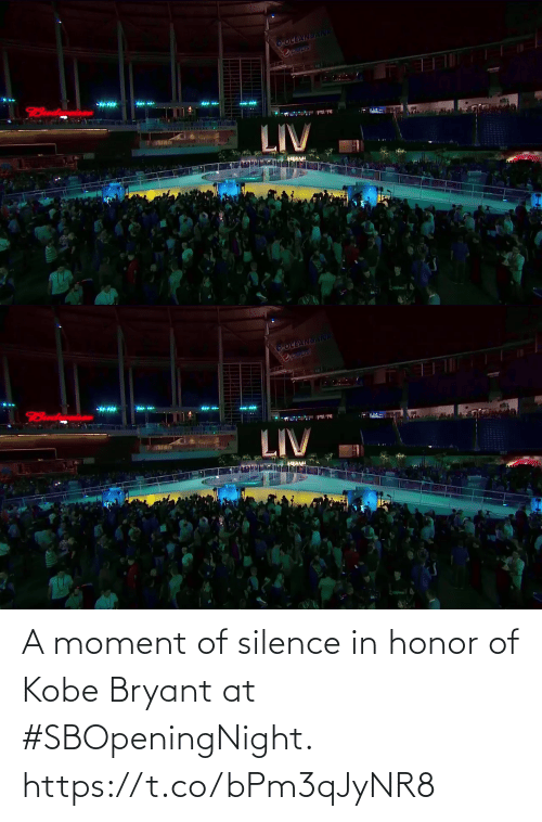 In Honor Of: A moment of silence in honor of Kobe Bryant at #SBOpeningNight. https://t.co/bPm3qJyNR8
