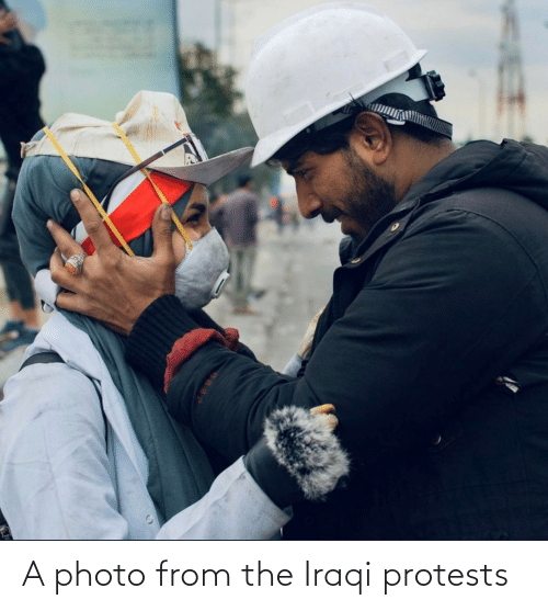 Iraqi: A photo from the Iraqi protests