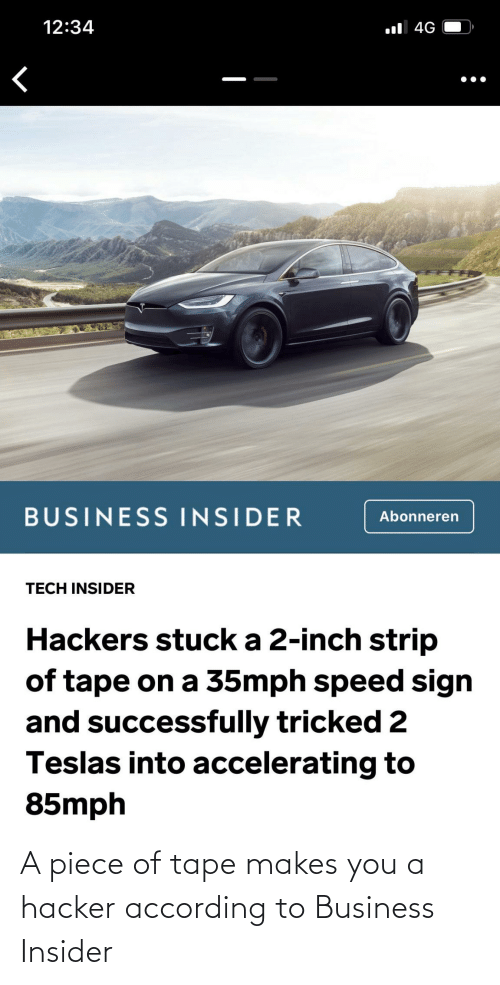 Business, According, and Business Insider: A piece of tape makes you a hacker according to Business Insider