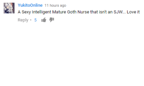 Love, Sexy, and Goth: A Sexy Intelligent Mature Goth Nurse that isn't an SJW.. Love it  Reply 5