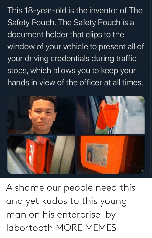 shame: A shame our people need this and yet kudos to this young man on his enterprise. by labortooth MORE MEMES