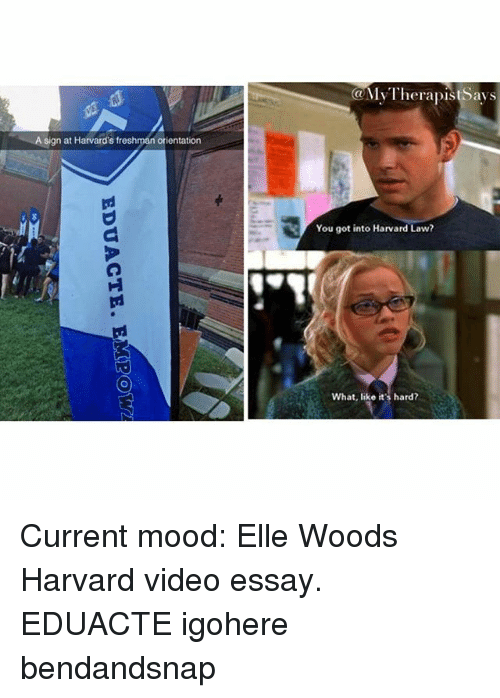 essays that got me into harvard Because i was too cool for that or at least that's what everyone around me told themselves, so i started telling myself that too how i got into harvard: essays.