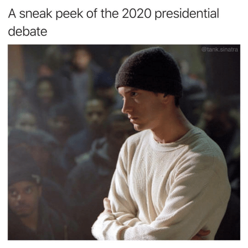 Presidential Debate: A sneak peek of the 2020 presidential  debate  @tank.sinatra