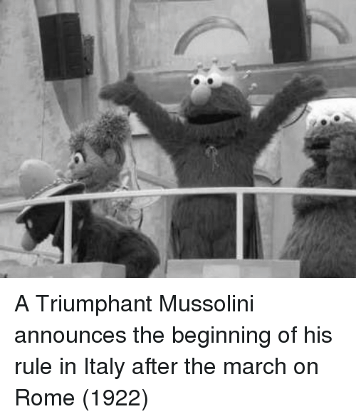 triumphant: A Triumphant Mussolini announces the beginning of his rule in Italy after the march on Rome (1922)