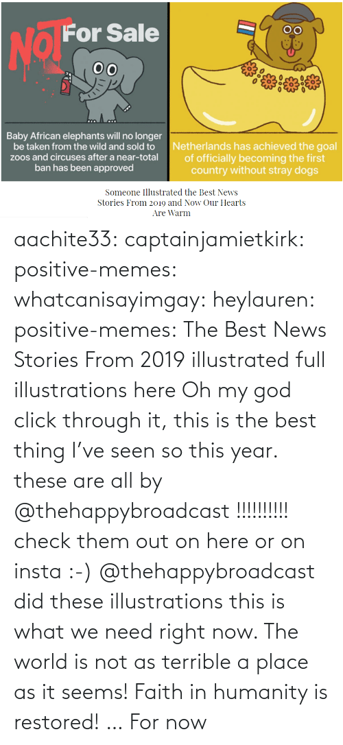 right: aachite33: captainjamietkirk:   positive-memes:  whatcanisayimgay:   heylauren:  positive-memes:    The Best News Stories From 2019 illustrated full illustrations here  Oh my god click through it, this is the best thing I've seen so this year.  these are all by @thehappybroadcast !!!!!!!!!! check them out on here or on insta :-)     @thehappybroadcast did these illustrations  this is what we need right now. The world is not as terrible a place as it seems!    Faith in humanity is restored! … For now