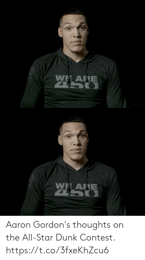 Star: Aaron Gordon's thoughts on the All-Star Dunk Contest. https://t.co/3fxeKhZcu6