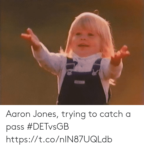 Sports, Aaron, and  Pass: Aaron Jones, trying to catch a pass #DETvsGB https://t.co/nlN87UQLdb