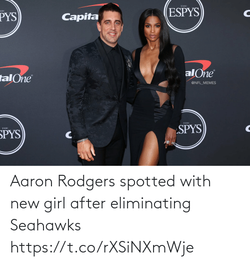 Spotted: Aaron Rodgers spotted with new girl after eliminating Seahawks https://t.co/rXSiNXmWje