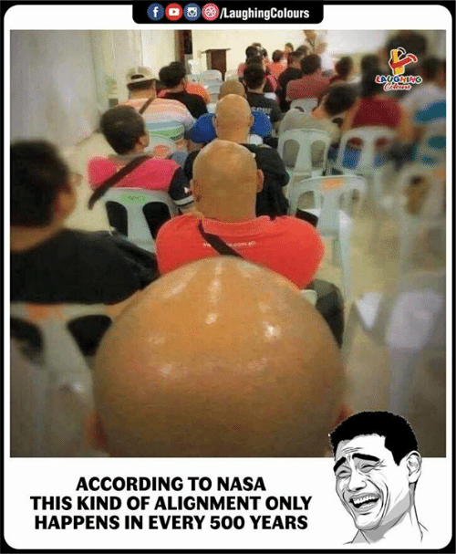 Nasa, Indianpeoplefacebook, and According: ACCORDING TO NASA  THIS KIND OF ALIGNMENT ONLY  HAPPENS IN EVERY 500 YEARS