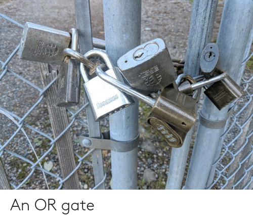 Gate and Ace: ace  Sesamee An OR gate