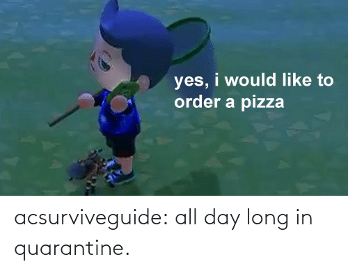 All Day Long: acsurviveguide:  all day long in quarantine.