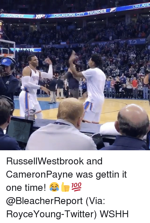 Memes, Mr T, and 🤖: ACT THUNDE  OR  Mr T RussellWestbrook and CameronPayne was gettin it one time! 😂👍💯 @BleacherReport (Via: RoyceYoung-Twitter) WSHH