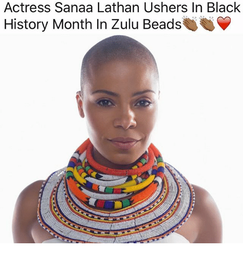 Actress Sanaa Lathan Ushers In Black History Month In Zulu