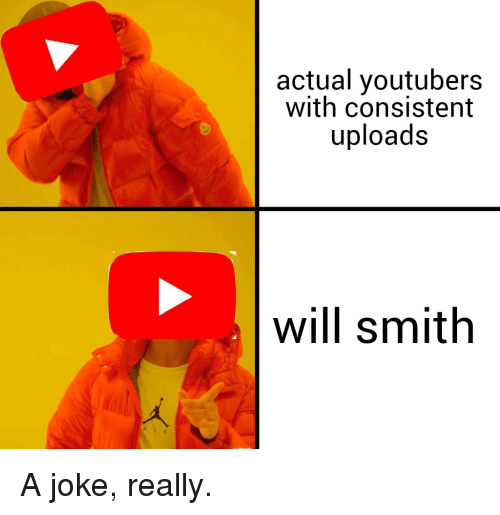 Will Smith, Will, and Really: actual youtubers  with consistent  uploads  will smith