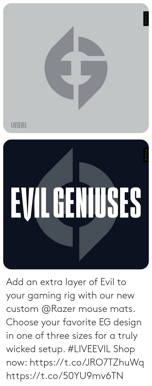 Choose Your: Add an extra layer of Evil to your gaming rig with our new custom @Razer mouse mats. Choose your favorite EG design in one of three sizes for a truly wicked setup. #LIVEEVIL  Shop now: https://t.co/JRO7TZhuWq https://t.co/50YU9mv6TN