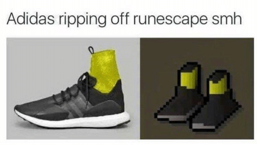 ripping: Adidas ripping off runescape smh