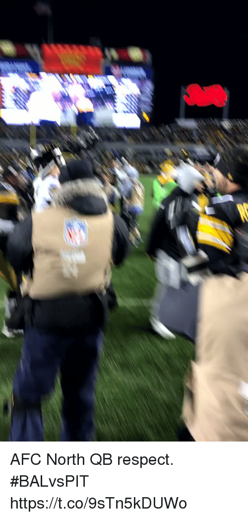 Memes, Respect, and Afc North: AFC North QB respect. #BALvsPIT https://t.co/9sTn5kDUWo