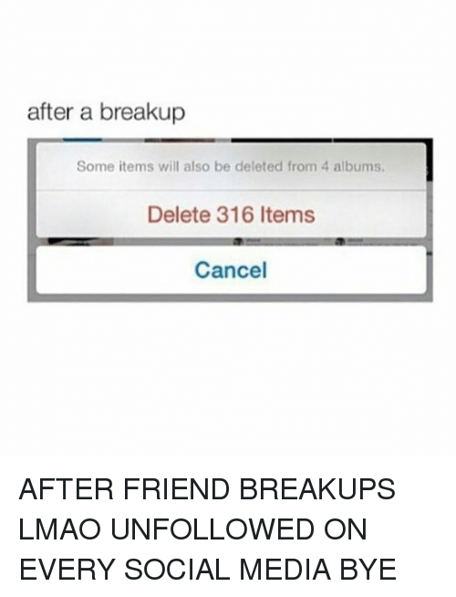 After a Breakup Some Items Will Also Be Deleted From 4 Albums Delete