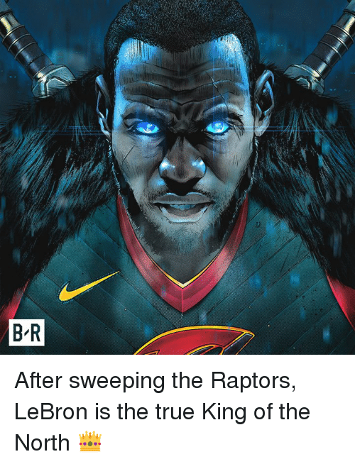 Sweeping: After sweeping the Raptors, LeBron is the true King of the North 👑
