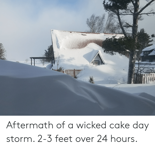 Cake, Wicked, and Feet: Aftermath of a wicked cake day storm. 2-3 feet over 24 hours.