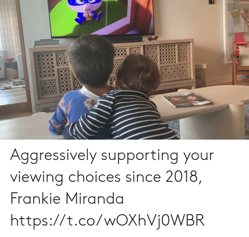 Memes, 🤖, and Miranda: Aggressively supporting your viewing choices since 2018, Frankie Miranda https://t.co/wOXhVj0WBR