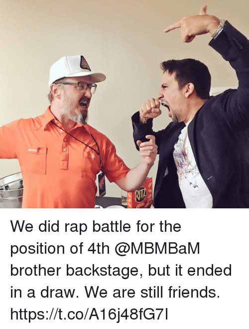aires: AIR CANADA We did rap battle for the position of 4th @MBMBaM brother backstage, but it ended in a draw. We are still friends. https://t.co/A16j48fG7I