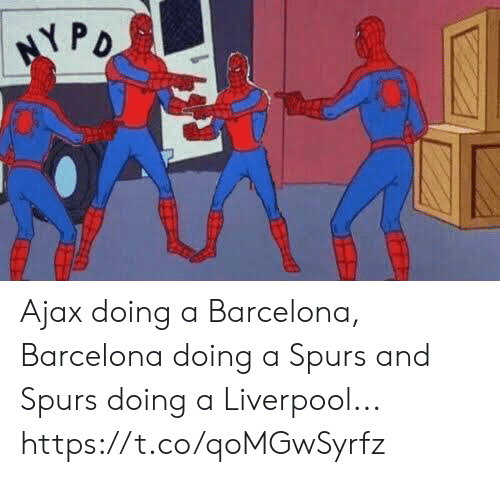 Barcelona, Soccer, and Liverpool F.C.: Ajax doing a Barcelona, Barcelona doing a Spurs and Spurs doing a Liverpool... https://t.co/qoMGwSyrfz