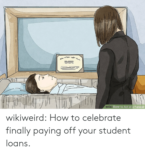 Tumblr, Blog, and How To: AL  wiki How to Act at a Fune al wikiweird:  How to celebrate finally paying off your student loans.
