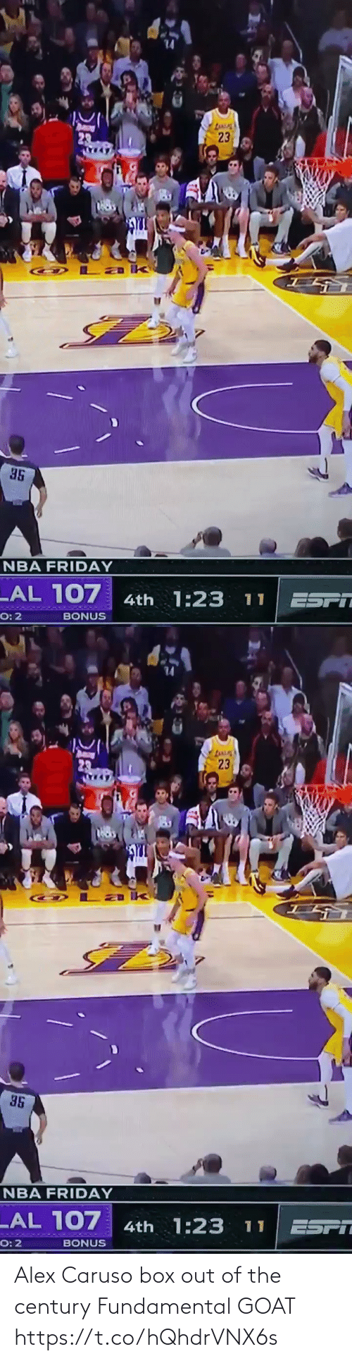 box: Alex Caruso box out of the century  Fundamental GOAT https://t.co/hQhdrVNX6s