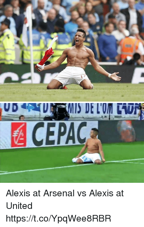 Arsenal, Memes, and United: Alexis at Arsenal vs Alexis at United https://t.co/YpqWee8RBR