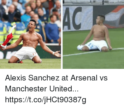 Arsenal, Soccer, and Manchester United: Alexis Sanchez at Arsenal vs Manchester United... https://t.co/jHCt90387g