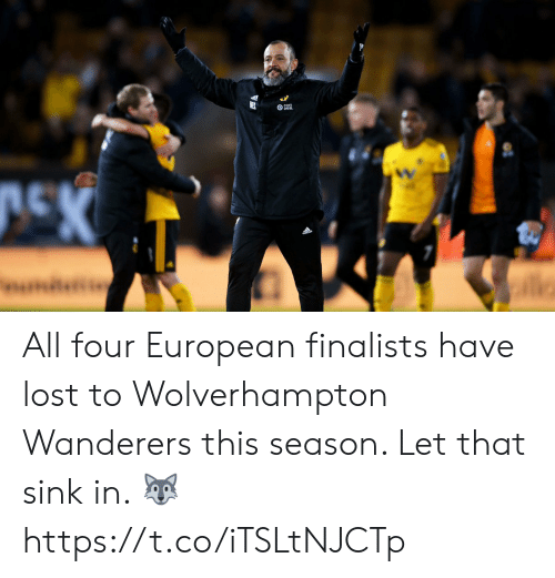 Soccer, Lost, and All: All four European finalists have lost to Wolverhampton Wanderers this season. Let that sink in. 🐺 https://t.co/iTSLtNJCTp