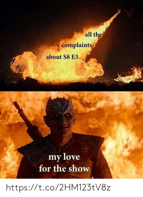 Love, Memes, and 🤖: all thef  complaints  about S8 E3  my love  for the show https://t.co/2HM123tV8z