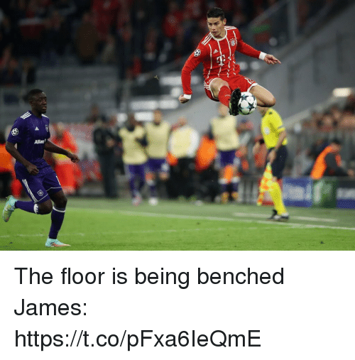 Memes, 🤖, and James: Allian The floor is being benched  James: https://t.co/pFxa6IeQmE
