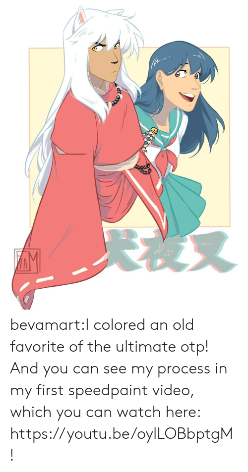 Target, Tumblr, and Blog: AM bevamart:I colored an old favorite of the ultimate otp! And you can see my process in my first speedpaint video, which you can watch here: https://youtu.be/oylLOBbptgM !