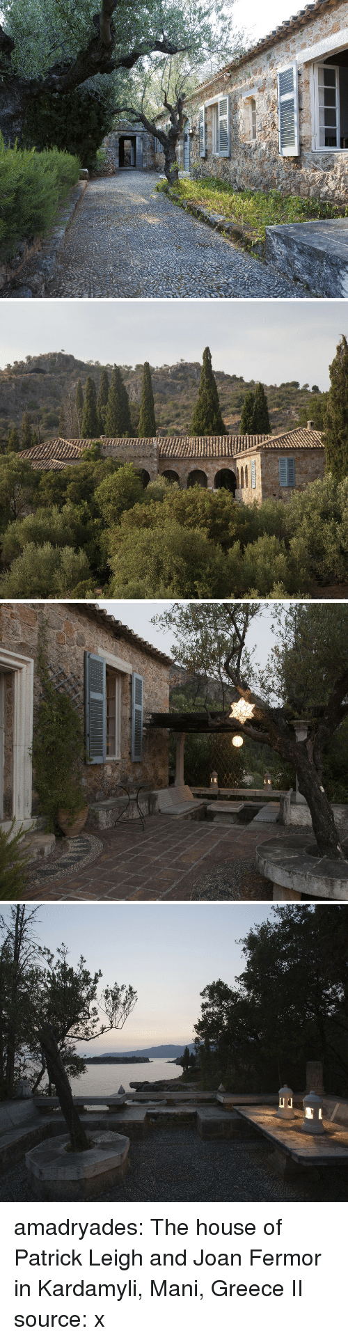 Tumblr, Blog, and Greece: amadryades:  The house of Patrick Leigh and Joan Fermor in Kardamyli, Mani, Greece II source: x