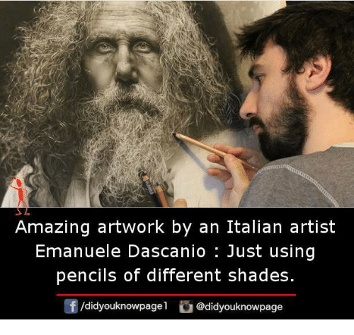 Memes, Amazing, and Artist: Amazing artwork by an Italian artist  Emanuele Dascanio : Just using  pencils of different shades.  /didyouknowpagel @didyouknowpage