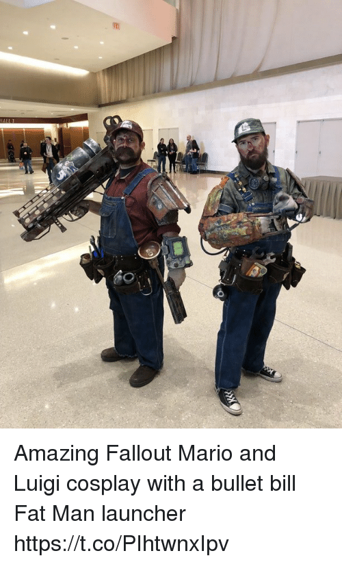 launcher: Amazing Fallout Mario and Luigi cosplay with a bullet bill Fat Man launcher https://t.co/PIhtwnxIpv