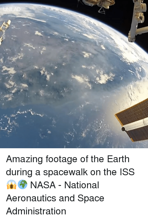 Dank, Nasa, and Earth: Amazing footage of the Earth during a spacewalk on the ISS 😱🌍  NASA - National Aeronautics and Space Administration