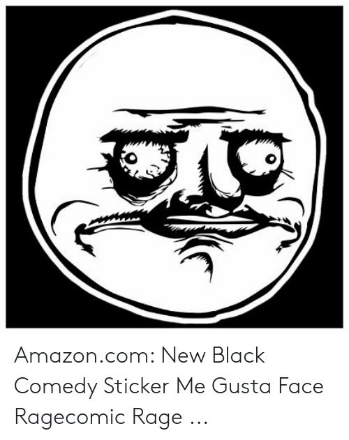 Amazon, amazon.com, and Black: Amazon.com: New Black Comedy Sticker Me Gusta Face Ragecomic Rage ...