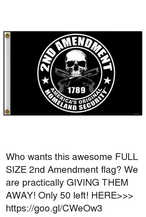 Memes, 2nd Amendment, and 🤖: AMEND  1789  RAND SEO Who wants this awesome FULL SIZE 2nd Amendment flag? We are practically GIVING THEM AWAY! Only 50 left! HERE>>> https://goo.gl/CWeOw3