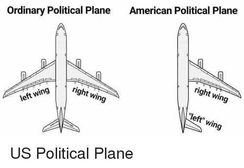 "Politics, American, and Plane: American Political Plane  Ordinary Political Plane  right wing  right wing  ""left"" wing  left wing"