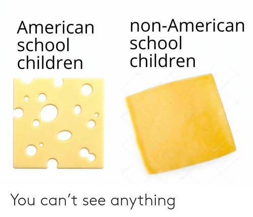 Children, School, and American: American  school  children  non-American  school  children  depotonota You can't see anything