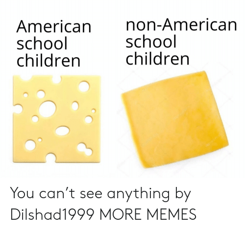Children, Dank, and Memes: American  school  children  non-American  school  children  depotonota You can't see anything by Dilshad1999 MORE MEMES