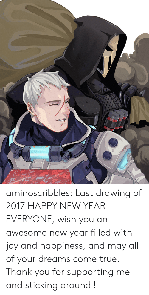 Aminoscribbles Last Drawing Of 2017 Happy New Year Everyone Wish You